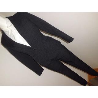 新品5APプチサイズSS5号小柄女子150cm規格★黒無地シンプルパンツスーツ