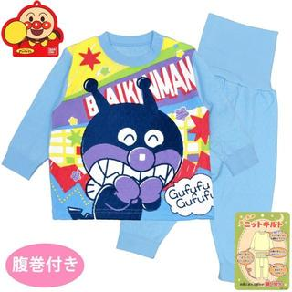アンパンマン - 新品 90cm アンパンマン あったか素材ばいきんまん腹巻付き長袖パジャマ