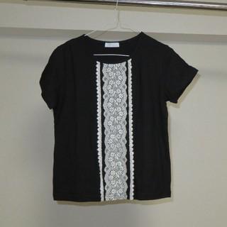 フェリシモ(FELISSIMO)のレースのついたTシャツ(Tシャツ(半袖/袖なし))