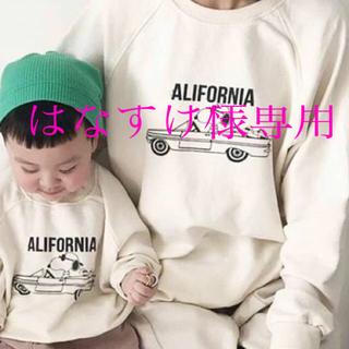 スヌーピー(SNOOPY)の2枚セット☆ スヌーピー トレーナー 親子コーデ リンクコーデ お揃い 送料無料(Tシャツ/カットソー)