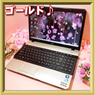 エヌイーシー(NEC)の✨人気のゴールド✨NEC❤️ Win10♪ 初めてのパソコン 学生さん⭐️(ノートPC)