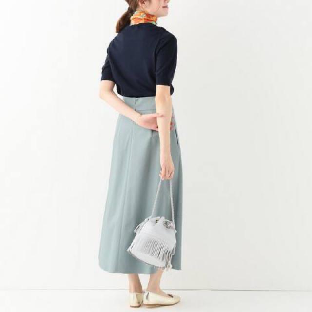 IENA(イエナ)のIENA ロングスカート グリーン トラペーズスカート レディースのスカート(ロングスカート)の商品写真
