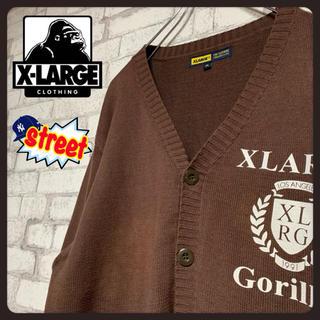 エクストララージ(XLARGE)の【レア】X-LARGE エクストララージ/カーディガン ビッグシルエット(カーディガン)