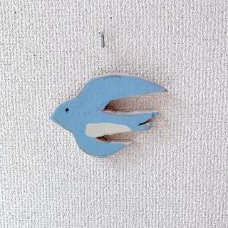木製壁掛け ツバメ(インテリア雑貨)