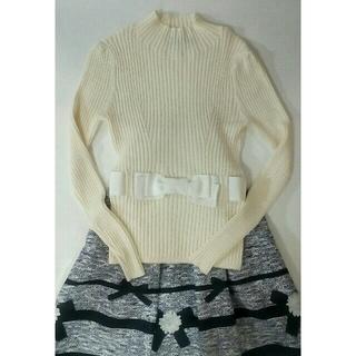 M'S GRACY - エムズグレイシー 定番リボン ニット セーター ホワイト系