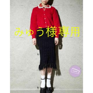 PAMEO POSE - MALL KNIT SKIRT ¥18,150 BLACK 新品未使用 タグ付き