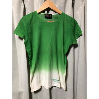 フェンディ(FENDI)の古着 FENDI フェンディ 環境保全 エコ素材 グラデーション 半袖 Tシャツ(Tシャツ(半袖/袖なし))