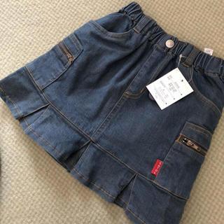 女児デニムスカート  110センチ タグ付き新品(スカート)
