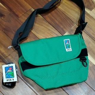 新品 MEI エムイーアイ 緑 ショルダーバッグ メッセンジャーバッグ