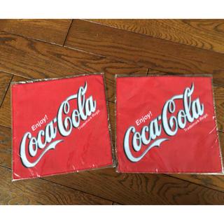 コカコーラ(コカ・コーラ)のコカコーラ販促グッズ★ハンドタオル新品セット(ノベルティグッズ)
