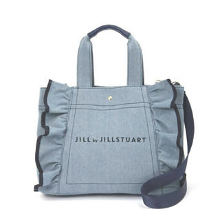 ジルバイジルスチュアート(JILL by JILLSTUART)のジルバイジルスチュアート フリルトート 大 ブルー(トートバッグ)