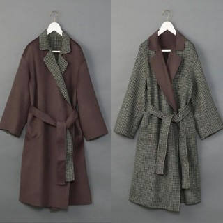 BEAUTY&YOUTH UNITED ARROWS - 6(ROKU) DOUOBLE REVER GOWN COAT/コート ◆