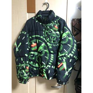 Supreme - Supreme Watches Reversible Puffy Jacket黒