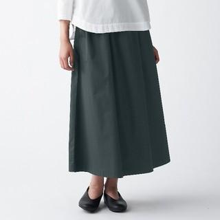 MUJI (無印良品) - ◆新品◆ 無印良品 ストレッチ高密度織りスカート/M~L/ダークグレー
