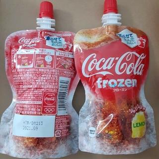 コカコーラ(コカ・コーラ)のコーラ フローズン レモン 2こ パウチ飲料 おやつ(ソフトドリンク)