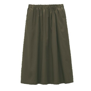 MUJI (無印良品) - ◎新品◎ 無印良品 ストレッチ高密度織りスカート/M~L/カーキグリーン