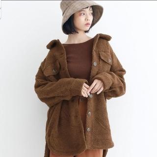 メルロー(merlot)の【新品】merlotボアCPOジャケット(テーラードジャケット)