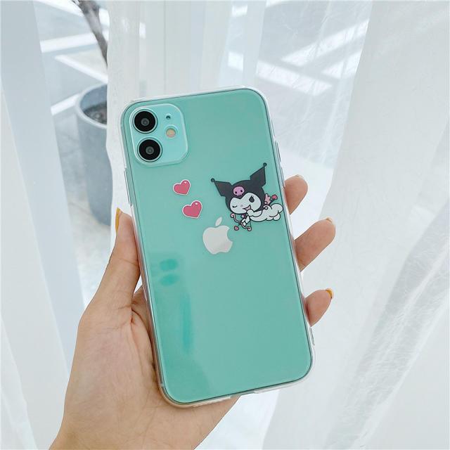 クロミ iPhoneケース クリアケース マイメロディ アイフォンカバー スマホ/家電/カメラのスマホアクセサリー(iPhoneケース)の商品写真