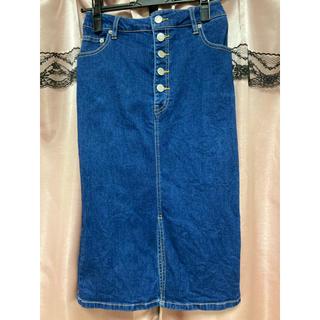 ウィゴー(WEGO)のWEGO デニムタイトスカート(ひざ丈スカート)