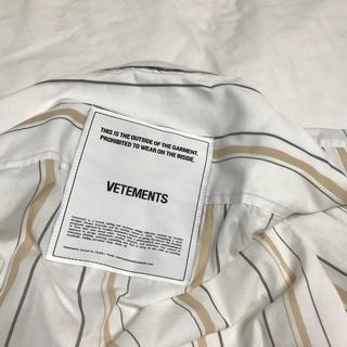 vetements シャツ 今日限定価格