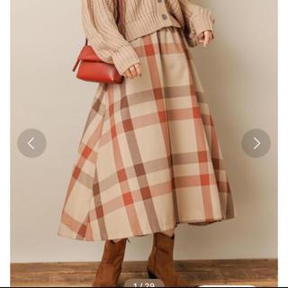 natural couture - ナチュラルクチュール チェックロングスカート