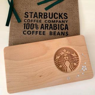 Starbucks Coffee - 韓国スタバ さくら螺鈿ウッドトレイ