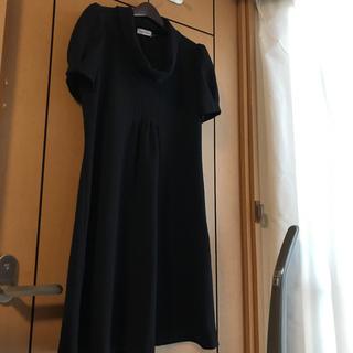カルバンクライン(Calvin Klein)のカルバンクライン 秋冬 最高級ワンピース 黒 サイズ10 Lサイズ(ひざ丈ワンピース)