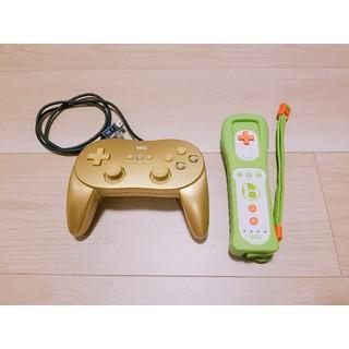 ウィー(Wii)のWiiリモコンプラス ヨッシーモデル & ゴールデンクラシックコントローラPRO(その他)