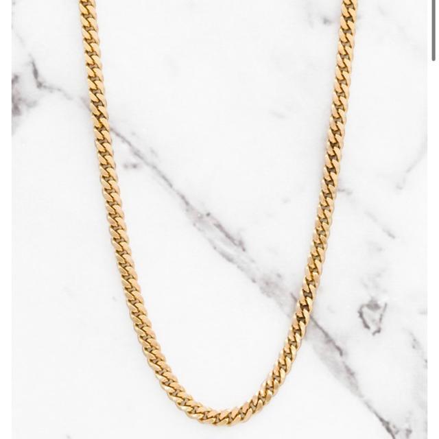 ALEXIA STAM(アリシアスタン)のsmoky blue ゴールドチェーンネックレス 40cm レディースのアクセサリー(ネックレス)の商品写真