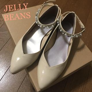 JELLY BEANS - パールビジュー付きベージュパンプス ドレス ワンピース 結婚式靴 ハロウィンコス