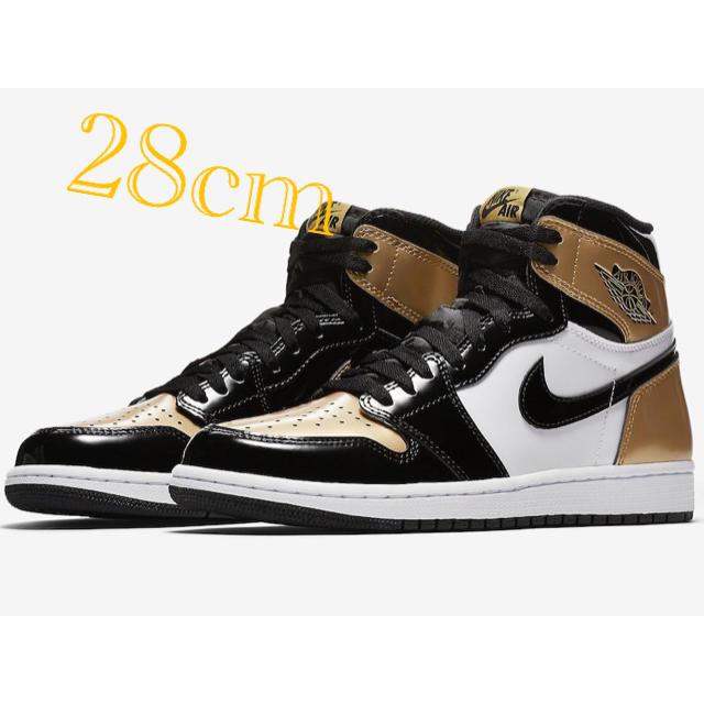 NIKE(ナイキ)のNIKE AIR JORDAN 1 ナイキ エア ジョーダン つま 黒金 メンズの靴/シューズ(スニーカー)の商品写真