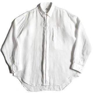 イッセイミヤケ(ISSEY MIYAKE)の希少 80s 初期 イッセイミヤケ リネンシャツジャケット 白 古着 ビンテージ(シャツ)