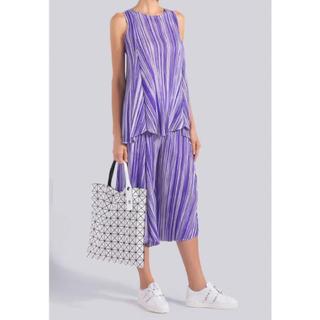 プリーツプリーズイッセイミヤケ(PLEATS PLEASE ISSEY MIYAKE)のliquid Stripe 紫 3点セット(セット/コーデ)