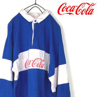 コカコーラ(コカ・コーラ)のコカコーラ  ラガーシャツ  長袖シャツ 古着 90's ボーダー(Tシャツ/カットソー(七分/長袖))
