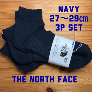 THE NORTH FACE - THE NORTH FACE アンクル ソックス 3p  ネイビー 27〜29㎝