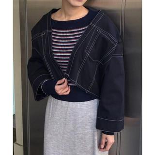 カスタネ(Kastane)の配色ステッチトラッカージャケット(Gジャン/デニムジャケット)