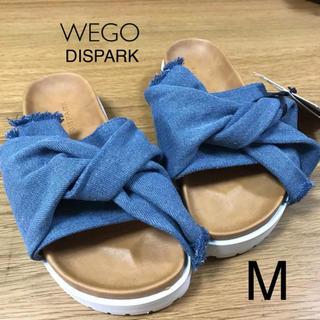ウィゴー(WEGO)のMサイズ⭐️新品⭐️デニムサンダル(サンダル)