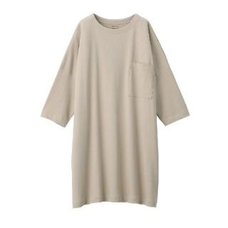 MUJI (無印良品) - 無印良品今期 度詰め天竺編みワンピース