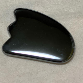 テラヘルツ鉱石 かっさプレート 約4cm(フェイスローラー/小物)