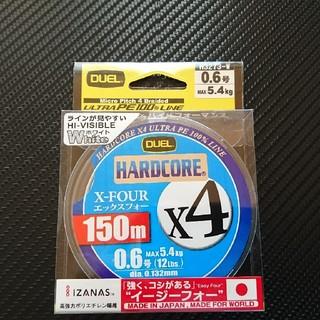 【残1】デュエル ハードコア X4 PEライン 0.6号 150m ホワイト(釣り糸/ライン)