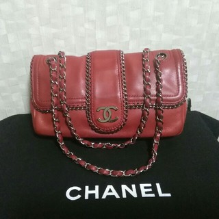 CHANEL - ☆正規品 CHANEL チェーンバッグ 赤☆