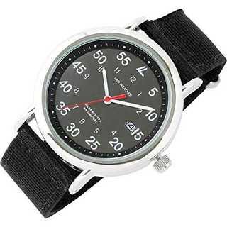01.ブラック×ブラック[ラドウェザー] 腕時計 メンズ 電池不要のソーラー搭載