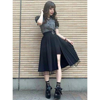 EATME - EATME プリーツラップスカート ブラック