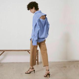 ルシェルブルー(LE CIEL BLEU)のルシェルブルー シャツ Peel Off Oversized Shirt(シャツ/ブラウス(長袖/七分))