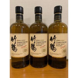 ニッカウイスキー(ニッカウヰスキー)の竹鶴 ピュアモルト 新竹鶴 3本セット(ウイスキー)