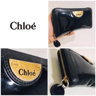 Chloe - 大丸購入■レア■クロエ CHLOE ブラック ゴールド ラウンドファスナー長財布