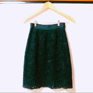 TOMORROWLAND - 美品☆マーノガーメント 総レーススカート ネイビー 9号