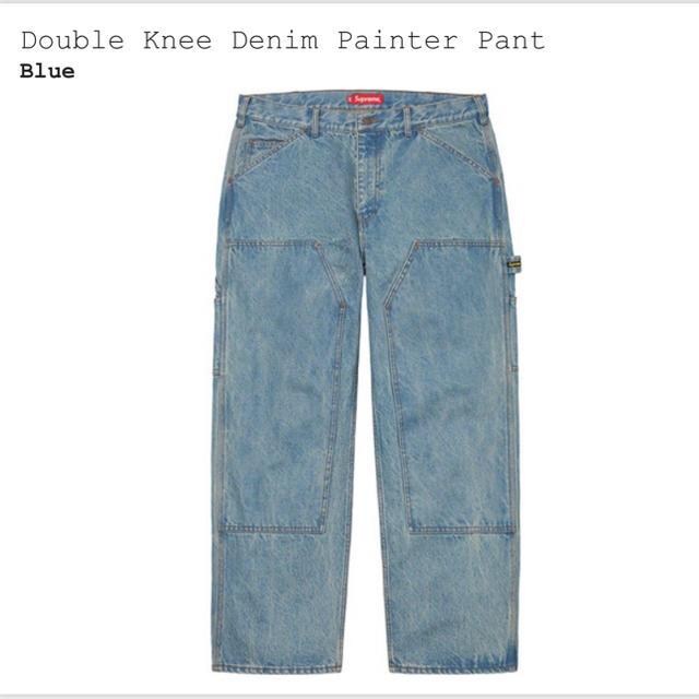 Supreme(シュプリーム)のシュプリーム Double Knee Denim Painter 30インチ メンズのパンツ(デニム/ジーンズ)の商品写真
