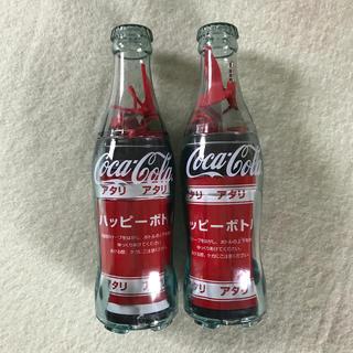 コカコーラ(コカ・コーラ)のコカコーラ ハッピーボトル スピーカーマイク 2個(ノベルティグッズ)