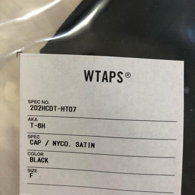 W)taps(ダブルタップス)のWTAPS T-6H / CAP / NYCO. SATIN キャップ ブラック メンズの帽子(キャップ)の商品写真